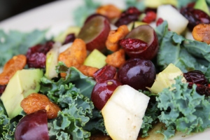 Cranberry, Glazed Walnut, Orange, Avocado, and Blue Cheese Salad. www.stylecity.in