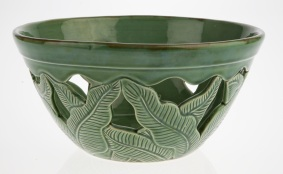 Ceramic bowl, Bouganvilla