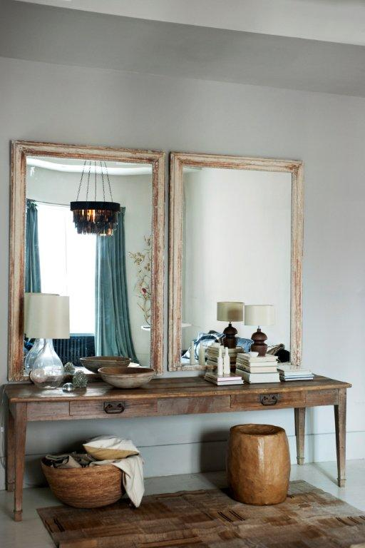 Vintage table and mirrors from the Ochre store