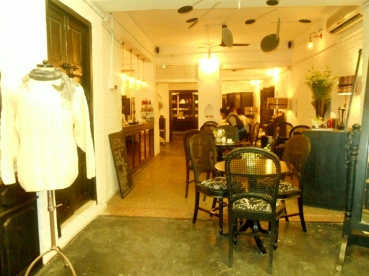 The lovely French cafe at Les Parisiennes, aptly names Le' cafe