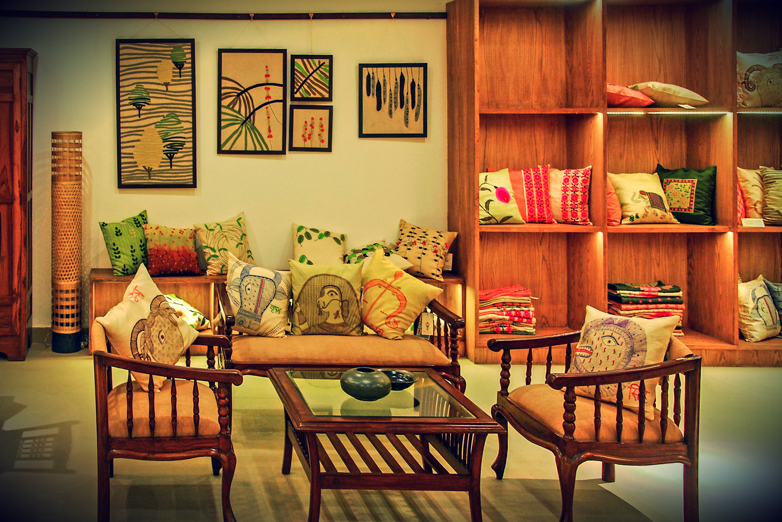 Fabric style city for Indian interior design
