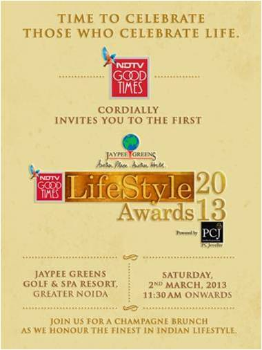 NDTV Good Times Lifestyle awards, www.stylecity.in
