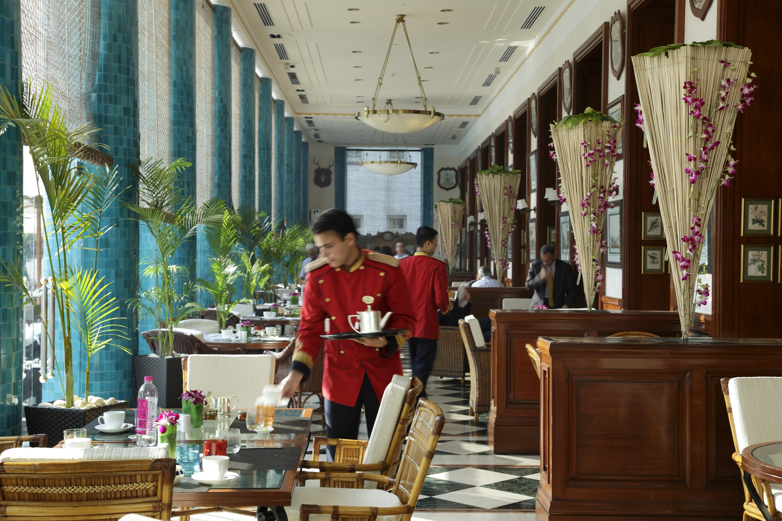 Luxe and stylish imperial hotel new delhi style city for Verandah designs in india