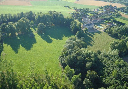 Aerial view Chateau de Varennes
