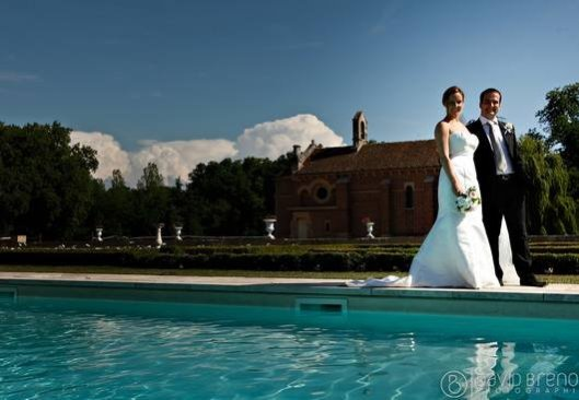 Pool area + weddings at Chateau de Varennes