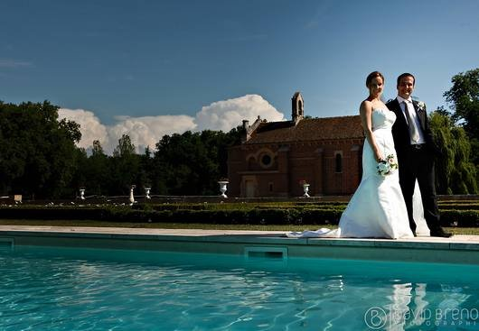 Pool area + weddings at Chateau de Varennes
