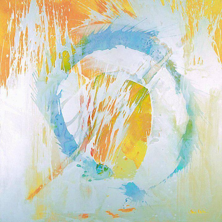 "Irena Vezin, Spring in St. Petersburg . 59"" x 59"" . mixed media on canvas . 2007"