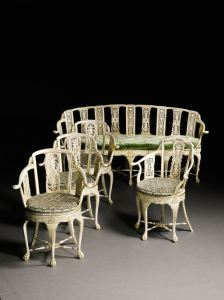 Anglo-Indian carved and parcel-gilt seat furniture