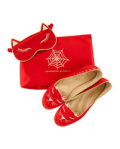 Red Satin Kitty, Slippers, Eye Mask Set, Charlotte Olympia