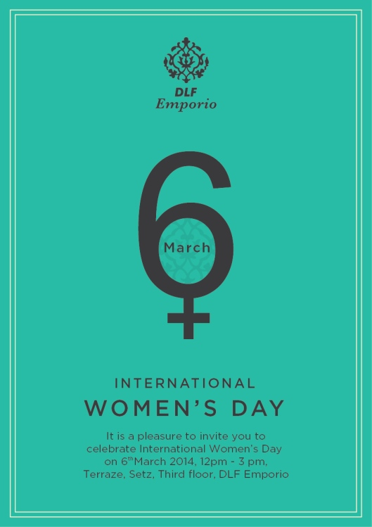Invitation - DLF Emporio's Women's Day Brunch - 6th March