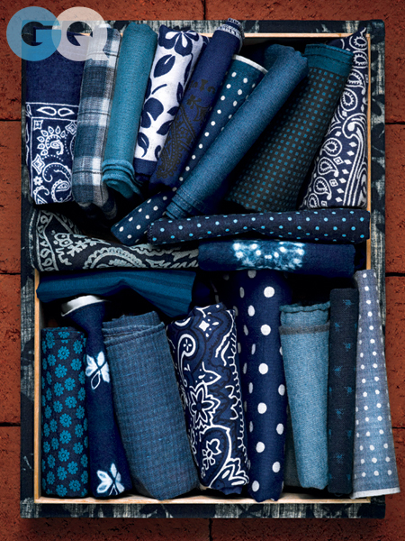 Indigo Pocket Squares