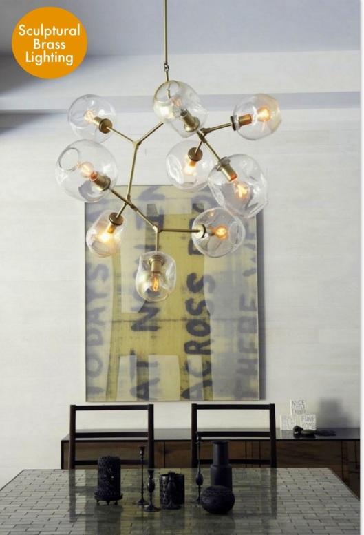 Branching Bubble light, Lindsey Adelmen lighting