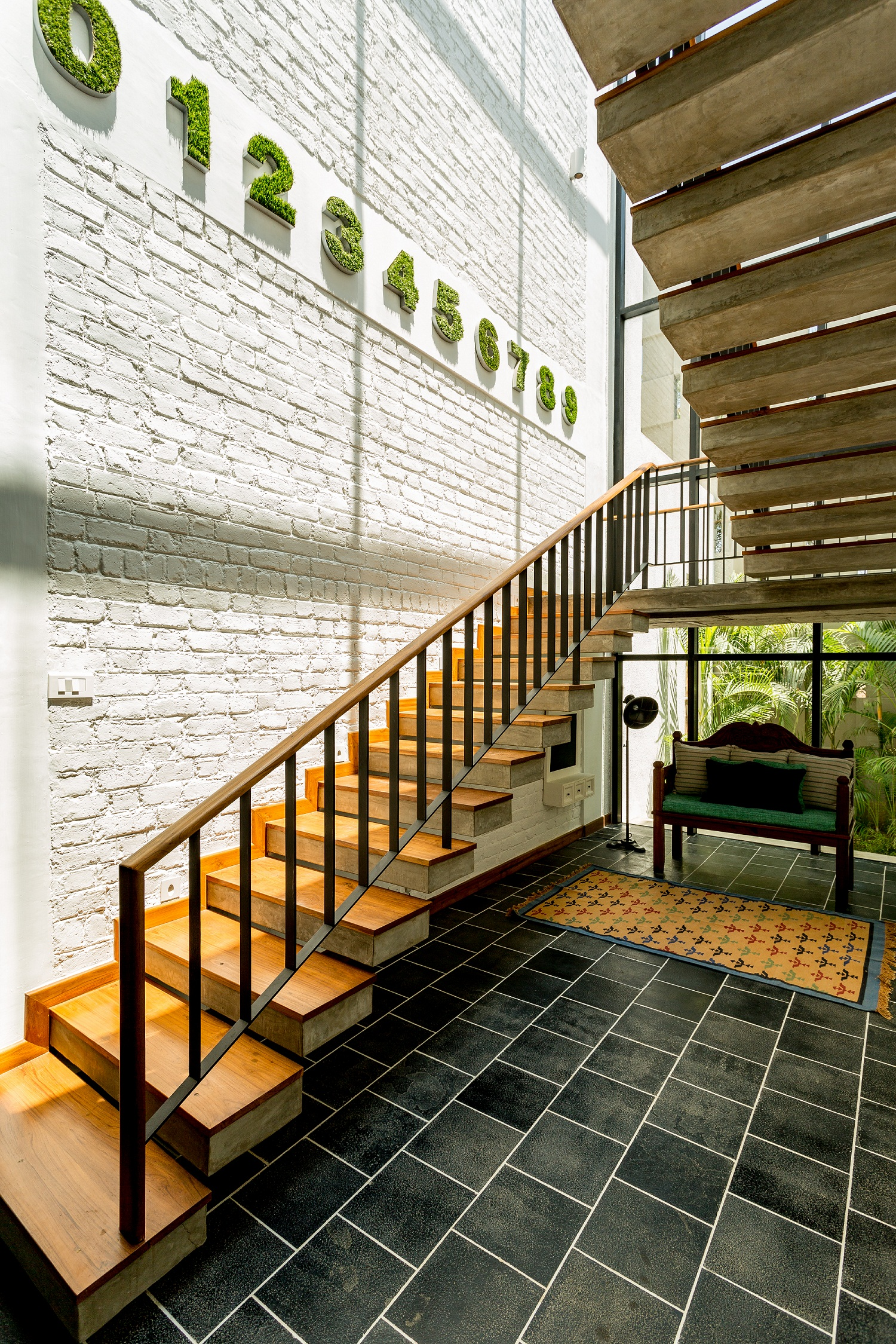 Stairwell- seating nook